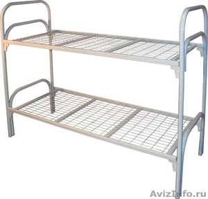 Армейские металлические кровати, кровати для рабочих, металлические кровати опт - Изображение #4, Объявление #1478849