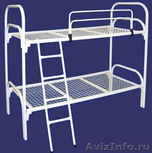 Кровати металлические трёхъярусные, кровати для школ, кровати оптом. - Изображение #2, Объявление #1479516